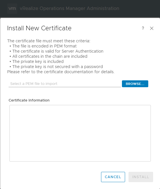 Replace vRealize Operations Manager SSL certificates. – Virtual Cubes